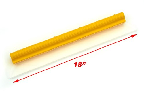Original Water Blade, Silicone T-Bar Squeegee, 18 Inch Yellow USA