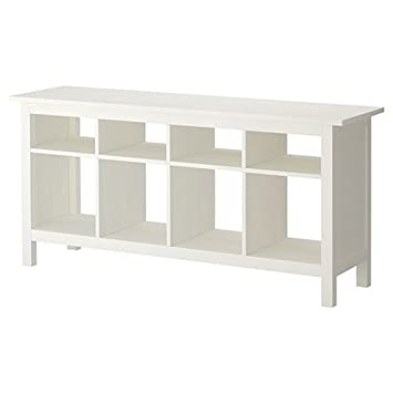 Ikea Hemnes Sofa Table White Satin Solid Pine