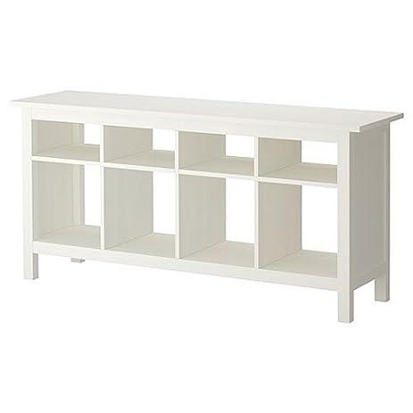 Amazoncom Ikea Hemnes Sofa Table White Satin Solid Pine Kitchen