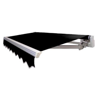 Awntech 10 ft maui manual retractable awning in black for 10 ft window blinds