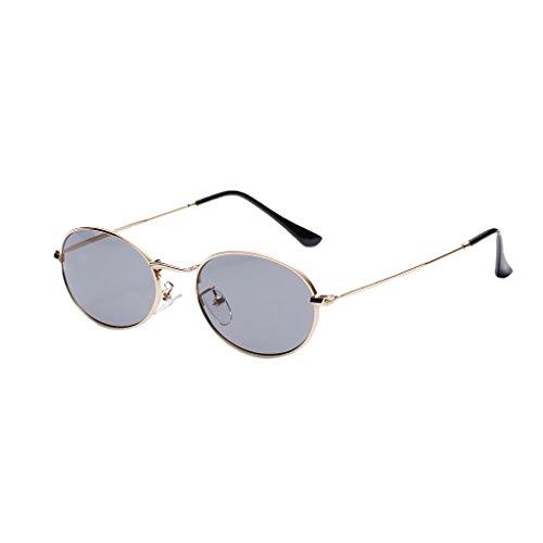 Hombre blanca Claro UV400 Espejo Unisex Accesorios Metal 50 Gris Vintage Dolity Mujer Astilla mm de Plano Gafas 7ERBa