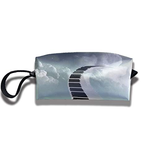 (Travel Toiletry Pouch Piano Shaving Kit Make-up Bag with Handle,Portable Organizer Receive Cosmetic Storage Case for Women and)