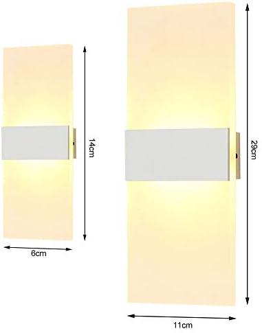 Lixada L/ámpara de Pared Interior Moderna Rect/ángulo AC85-265V Apliques de Pared de Pasillo de Cabecera L/ámpara de Aluminio Decorativa para el Hogar