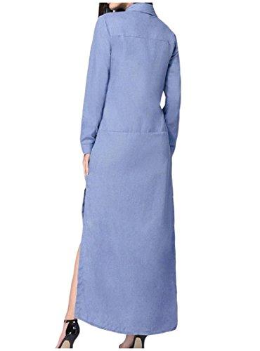 Simple, Couleur Unie Des Femmes Coolred Robe Maxi Sauvage Fractionnement Manches Comme Image