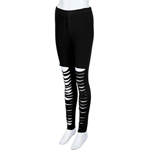 Taille Noir Printemps Legging Floral Automne Trou Haute Fit Amincissant Bassique Slim SANFASHION Yoga en Sport Pantalon Femme Garment Jambe Hiver 0wUUZCdx