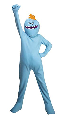 Child Rick and Morty Mr. Meeseeks Costume 12/14 -