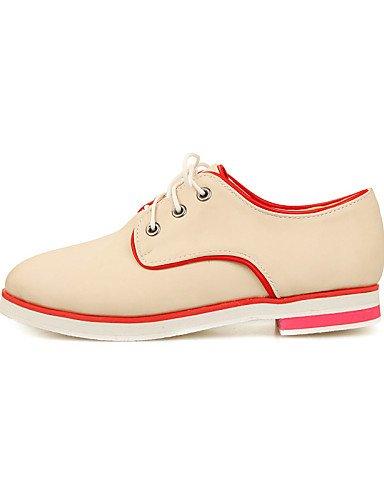 Pink Habillé Travail Arrondi 5 Bureau Richelieu Rose Njx 5 Chaussures Bout us8 Plat Femme Talon Eu39 Similicuir Cn40 Uk6 amp; Beige Noir q7ITZXTw