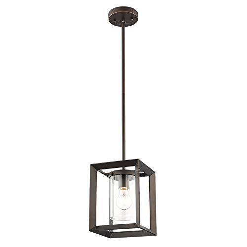 Rectangular Pendant Light With Shade in US - 4