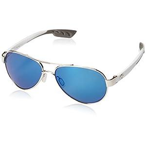 Costa del Mar Loreto Sunglasses Palladium w/White/Blue Mirror 580Plastic