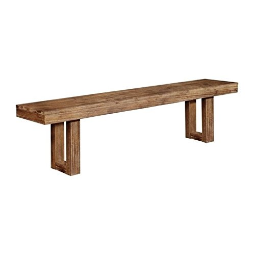 Coaster 105543 Home Furnishings Bench, Wired Brush Nutmeg by Coaster Home Furnishings