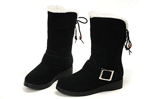 Low Straps Studio Booties Ankle Black Heel SK Buckle Women's BpHtwnx7qI