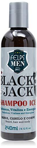 Men Black Jack Shampoo Ice 240 ml, Felps, 240ml