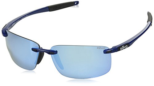 Sunglasses Revo Affordable (Revo Unisex RE 4059 Descend N Rectangular Polarized UV Protection Sunglasses, Electric Frame, Blue Water Lens)
