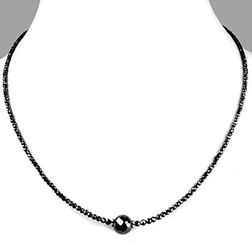 Barishh 30cts 3mm Black Diamond Necklace 16 Inches Excellent Luster by Barishh