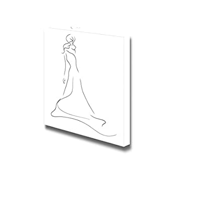 Canvas Prints Wall Art - Dress Sketch - 24