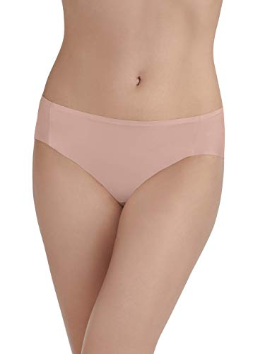 (Vanity Fair Women's Underwear Nearly Invisible Panty, in The in The Buff, Medium/6)