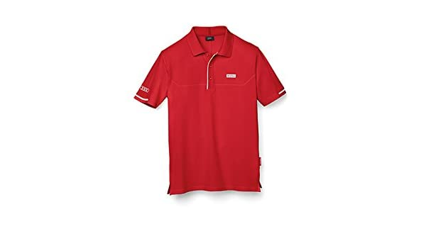 Audi 3131501213 polo deportivo para hombre, rojo, mediano: Amazon ...