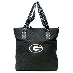 - Georgia Bulldogs Quilted Tote Bag