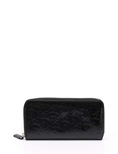 (クリスチャンディオール) Christian Dior トロッター ラウンドファスナー長財布 エナメル 黒 中古   B07MQJ5WZ1