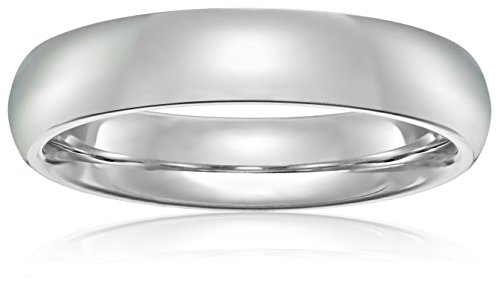 Standard Comfort Fit 10K Gold Wedding Band, 4mm by Amazon Collection