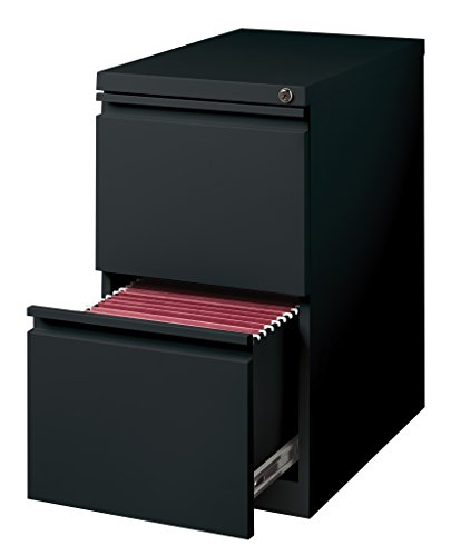 Hirsh Industries 2 Drawer Mobile File Cabinet File in Black ()