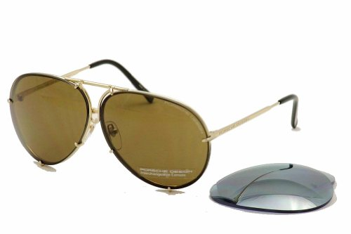 PORSCHE DESIGN P8478 A Sunglasses P'8478 Light Gold - Sunglasses Porsche Vintage