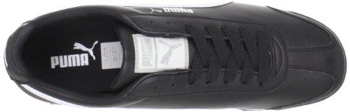 PUMA Herren Roma Basic Leather Sneaker,Schwarz/Weiß/PUMA Silber,9 D US