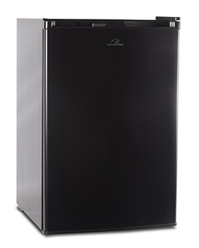 Commercial Cool CCR45B Compact Single Door Refrigerator and Freezer, 4.5 Cu. Ft. Mini Fridge, Black (Compact Fridge No Freezer)