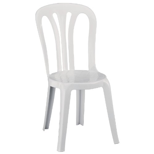 6X Resol Multi Purpose Stacking Chairs White Indoor Outdoor 890X470X520mm