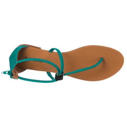 Sandalo In Bambù Con Cinturino A T-strap In Metallo Con Cinturino A Grayson Da Donna