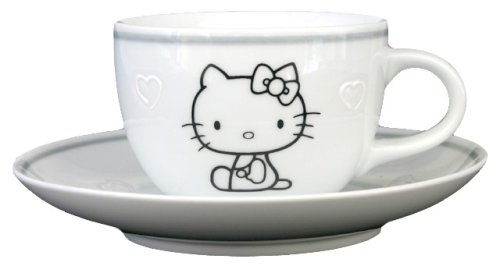 Hello Kitty Monotone Coffee Cup