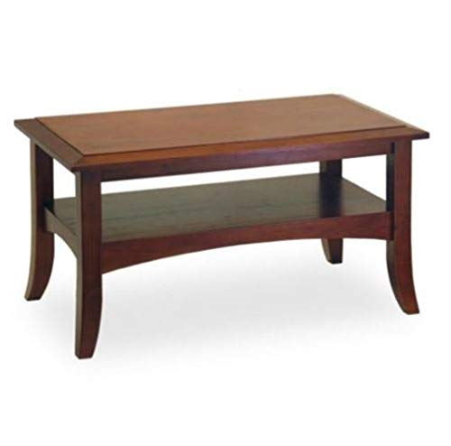 (Vanda6549 Wooden Table Coffee Brown Living Room Farmhouse Accent Country Rustic Shelf Vintage)