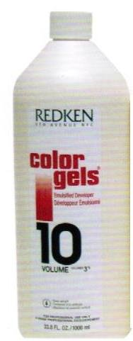 Redken Color Gels Emulsified Developer TreatMent for Unisex, 10 Volume, 33.79 Ounce