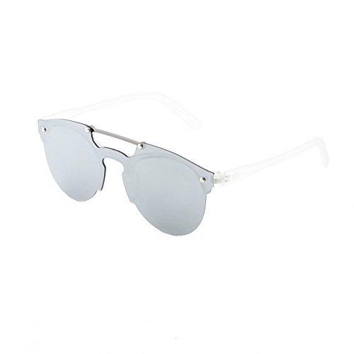 hombre sol Transparente mujer HOKUSAI Plata espejo de Gafas degradadas TWIG 51agxcqY