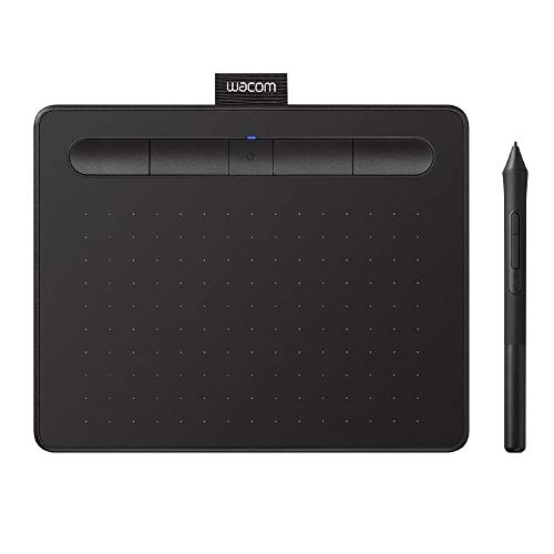 """Wacom CTL4100WLK0 Intuos Wireless Graphics Drawing Tablet with Bonus Software Included, 7.9"""" X 6.3"""", Black"""