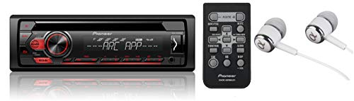 Pioneer Single DIN in-Dash CD/CD-R/RW, MP3/WMA/WAV AM/FM Front USB/Auxiliary Input MIXTRAX and ARC Support Car Stereo Receiver Detachable face Plate/Free ALPHASONIK -