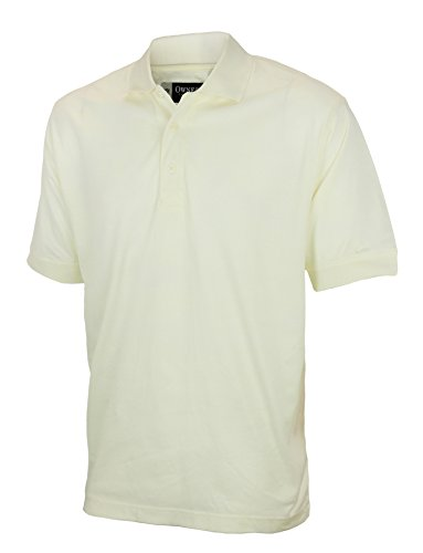 - Mens Reebok Owners Collection Polo Shirt, Cream