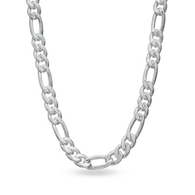 Figaro 180-7MM .925 Sterling Silver Italian Link Chain (36 Inches) by Oxford Diamond Co.