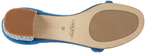 GARDENIA COPENHAGEN, Sandalias con Cuña Mujer Azul (Suede Blue Jeans)
