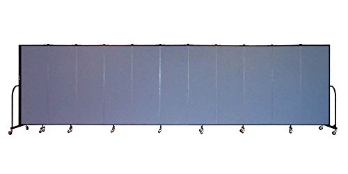 11 Panel Freestanding Partition (Freestanding 72 in. Portable Room Divider w 11 Panels (Lake Fabric))
