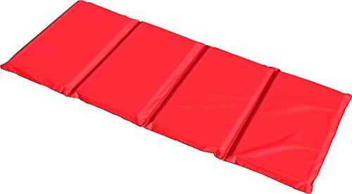 KinderMat Basic Rest Mat, 1 Inch Thick, 45 x 19 Inches, Red/Blue, School, Home, & Daycare