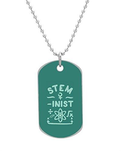 STEM-inist (STEM Field Feminist) Custom OvaL Dog Tag (Large Size) Pet Tag Cat Animal Tag