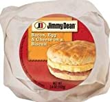 Jimmy Dean Butcher Wrapped Bacon, Egg & Cheese Biscuit, 3.6 oz (12 count)