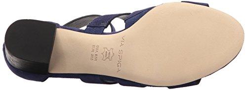 Heeled Block Sandal Marina Blue Via Women's Suede Carys Heel Spiga qft4axX1