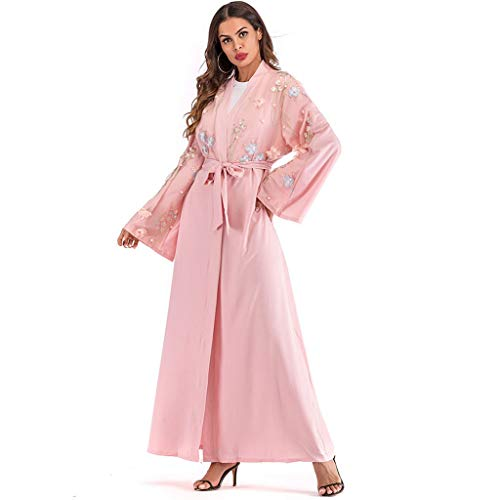 Medio Mediorientale Abbigliamento Con Vestono Musulmano Ricamo Abiti Ginli Orientale Le Donna Da Musulmani Signore Musulmane Rosa Vestiti Etnico 7fYgyvb6