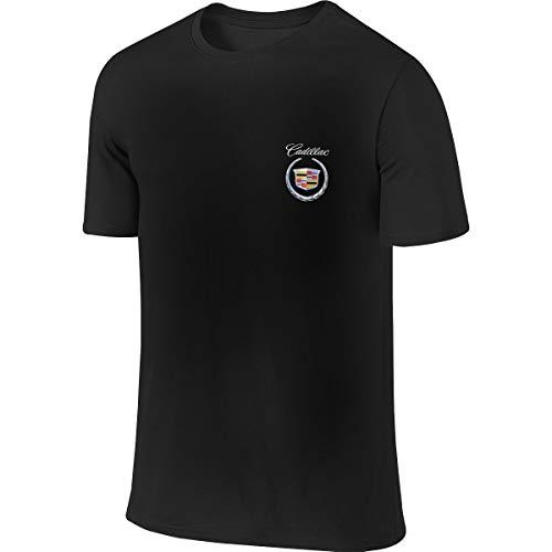 Design Cadillac 2000 Logo O-Neck Short Sleeve T Shirts Cool Top T-Shirts for Men's,Black