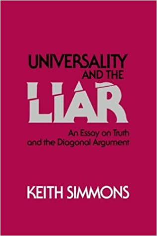 Amazoncom Universality And The Liar An Essay On Truth And The  Amazoncom Universality And The Liar An Essay On Truth And The Diagonal  Argument  Keith Simmons Books Science Essay Ideas also Purchase A Professionally Written Bio  Examples Of Thesis Essays