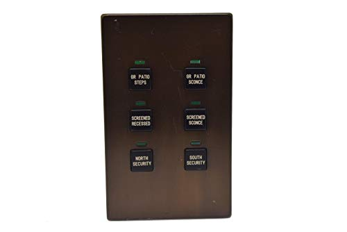 LiteTouch/Savant - 6 Button Keypad with Black Buttons and Bronze - Savant Lighting