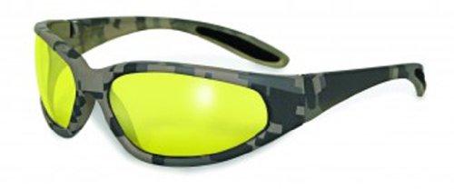 Global Vision Eyewear Digital Camo Safety Glasses, Yellow Tint - Tint G15