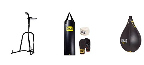 Everlast Dual Station Heavy Bag Stand, 100-lb, Speedbag, Value Bundle by Everlast (Image #1)